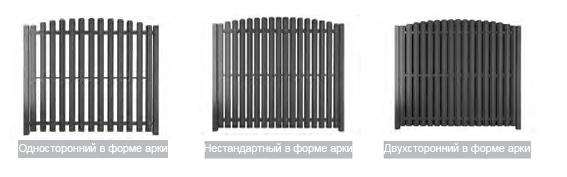 забор штакетник Aluzinc