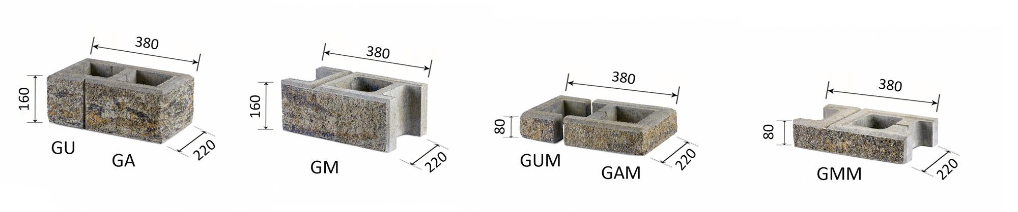 betona žoga bloki