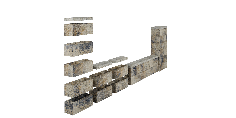 betona žogu bloki
