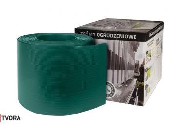 190mm zaļa žoga lamiles PP 700 gr/m²