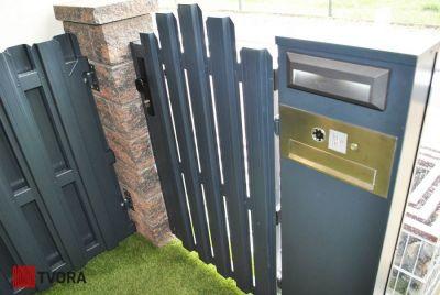 Столб для ворот и калитки с опциями