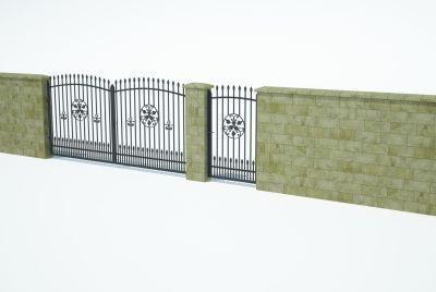 Žogu bloki, siena